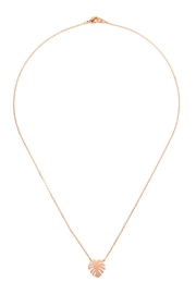 Riah Fashion Cast-Fringe-Leaf Pave-Necklace - Front cropped