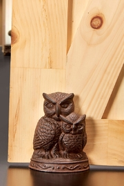 Giftcraft Inc.  Cast Iron Door Stopper Owls - Product Mini Image