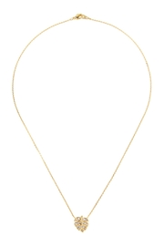 Riah Fashion Cast-Leaf Pave-Necklace - Product Mini Image