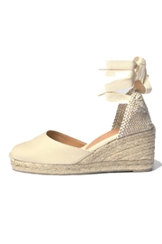 Castaner Ivory Canvas Espadrille - Product Mini Image