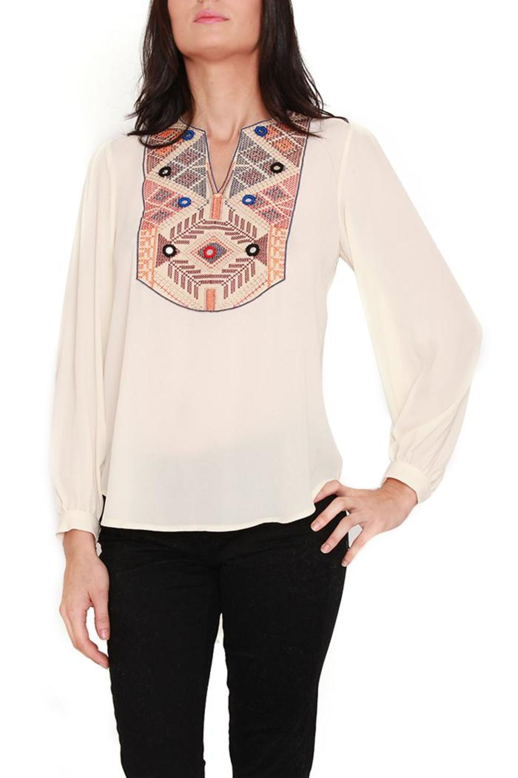 Casting Cross Stitch Embroidered Blouse From Miami Shoptiques