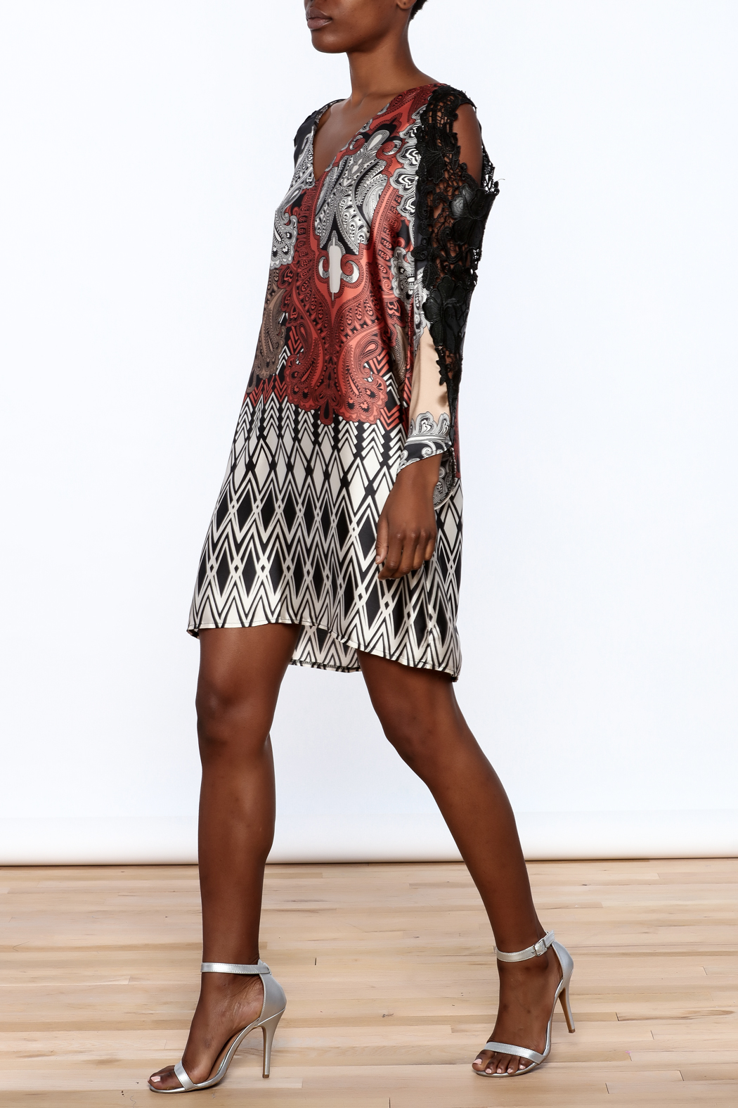 Casting Lace Tunic Dress - Front Full Image