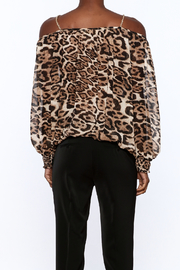 Casting Smoke Leopard Top - Back cropped