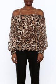 Casting Smoke Leopard Top - Side cropped