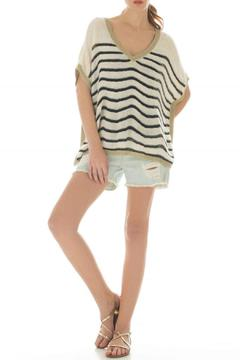 Shoptiques Product: Stripe Batwing Sweater