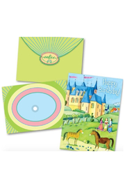 Eeboo Castle Happy Birthday Card - Product Mini Image