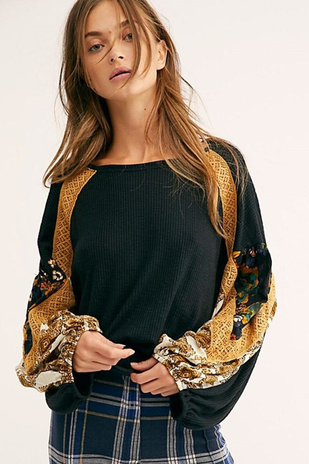 Free People Casual Clash Top - Main Image