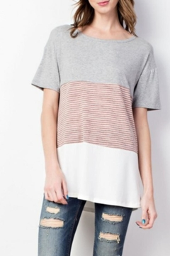 Shoptiques Product: Casual Color-Block Tee
