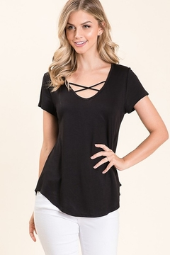 bombom Casual Criss Cross Neck Top - Product List Image