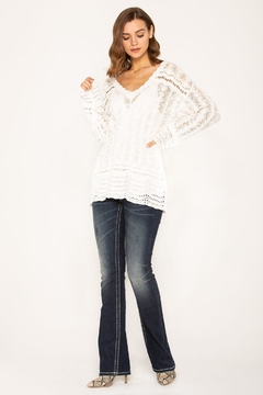 Miss Me Casual Crochet Sweater - Alternate List Image