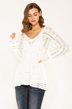 Miss Me Casual Crochet Sweater - Product List Image