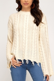 She + Sky Casual Encounters Sweater - Front cropped