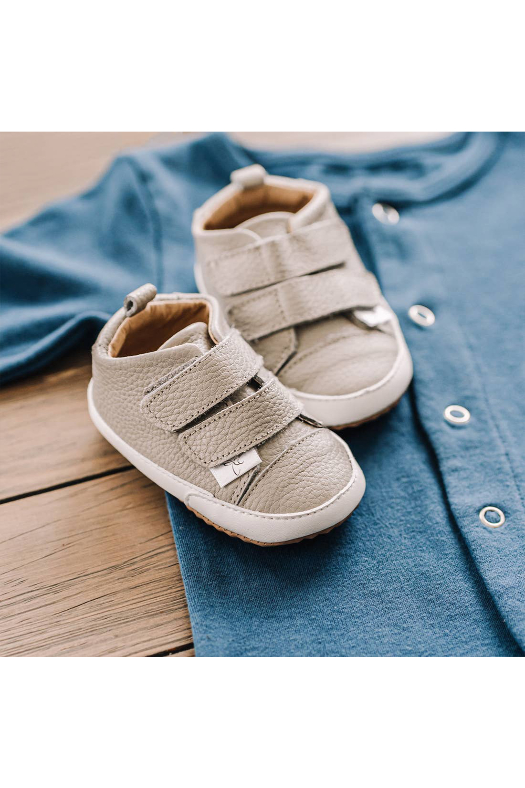 Little Love Bug Company Casual Grey Low Top Moccasin - Front Full Image