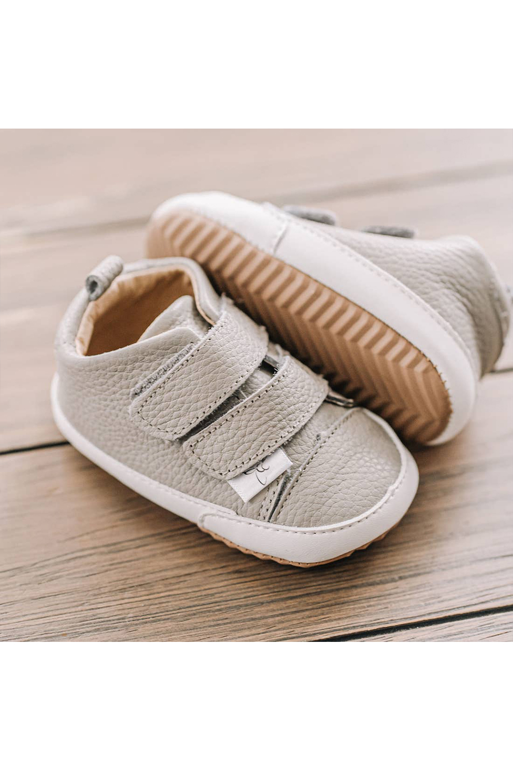 Little Love Bug Company Casual Grey Low Top Moccasin - Side Cropped Image