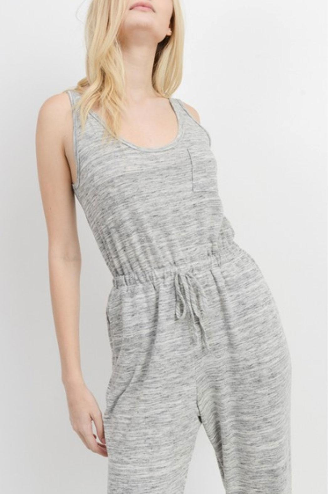 Cherish Casual Knit Jumpsuit - Side Cropped Image