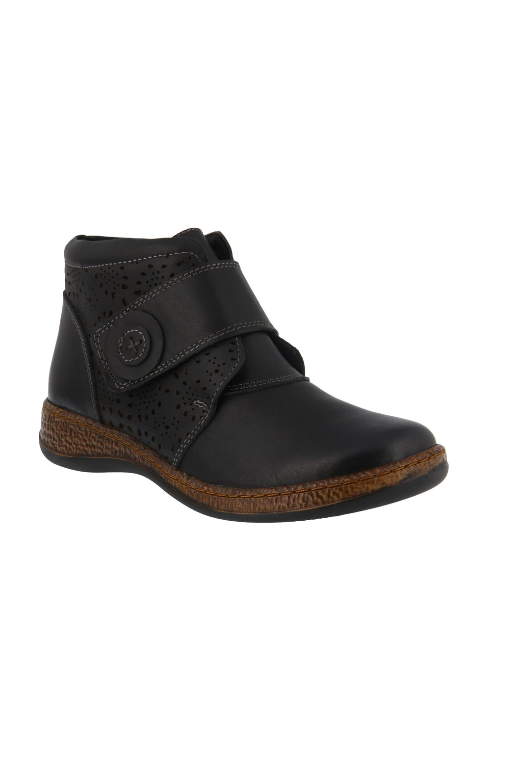 Spring Footwear Casual Leather Bootie - Main Image