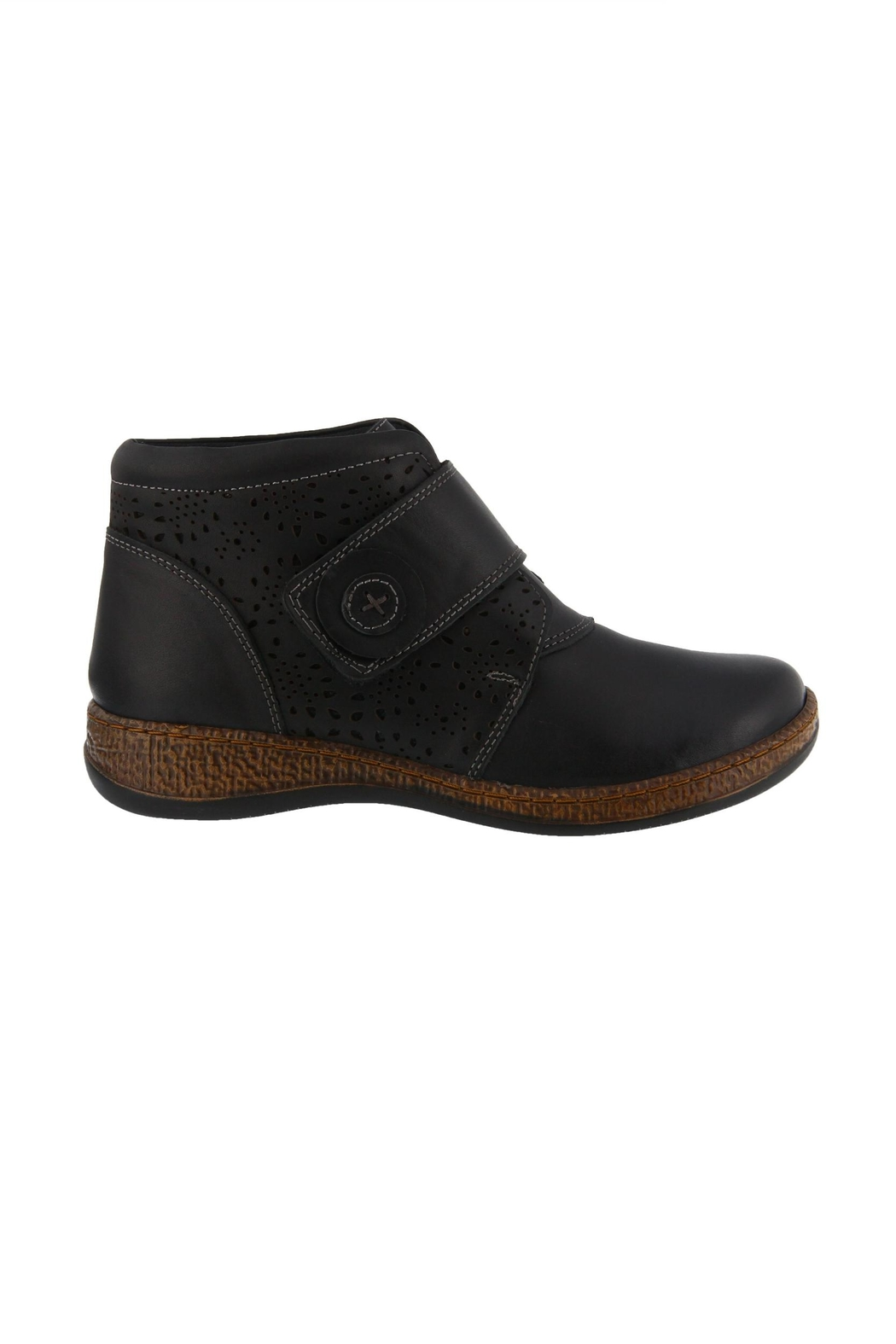 Spring Footwear Casual Leather Bootie - Side Cropped Image