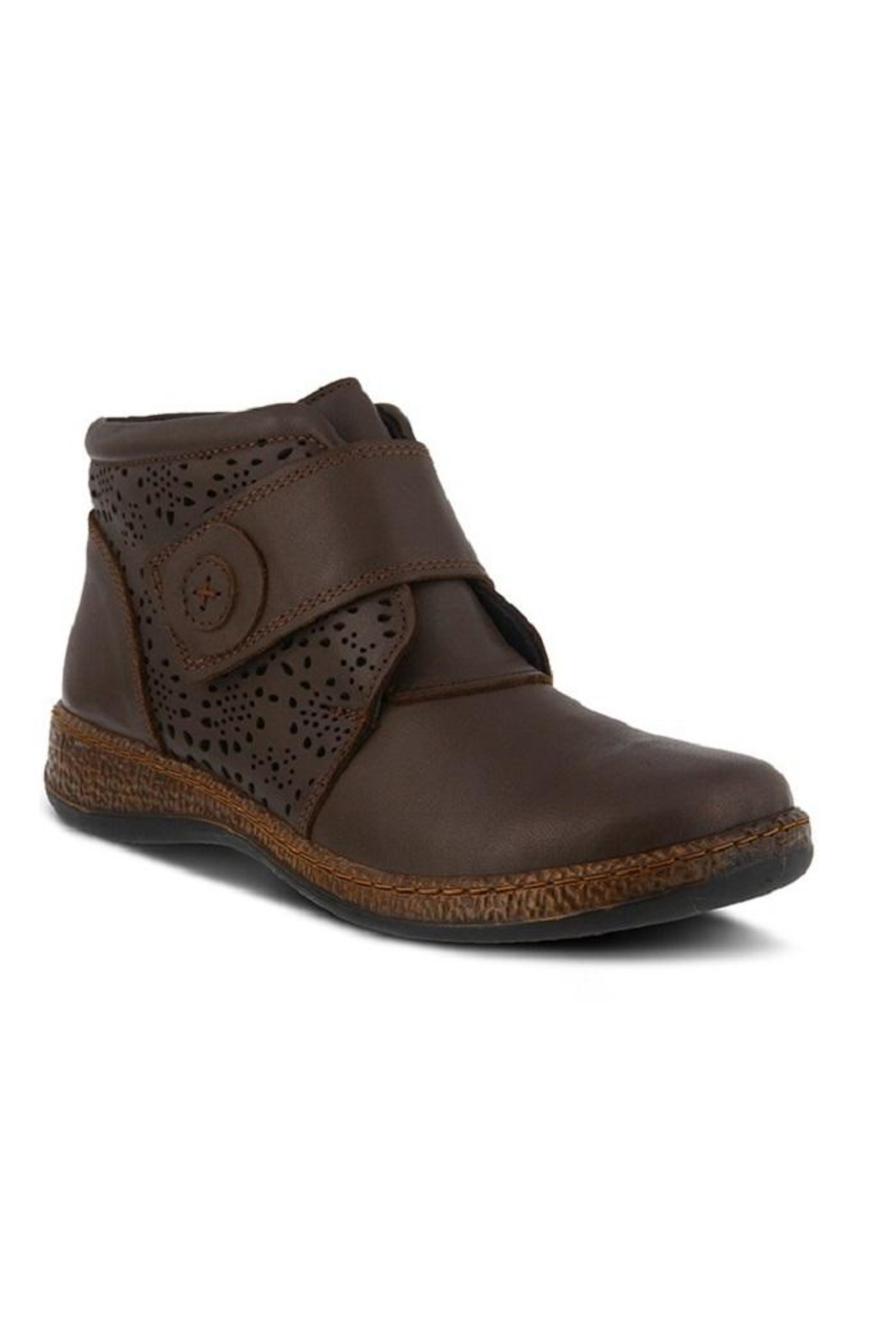 Spring Footwear Casual Leather Bootie - Front Cropped Image