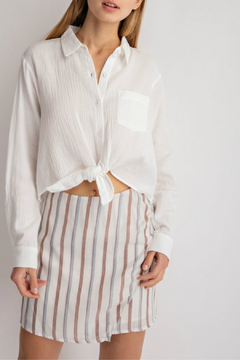 lelis Casual long sleeve top with front tie detail - Product List Image