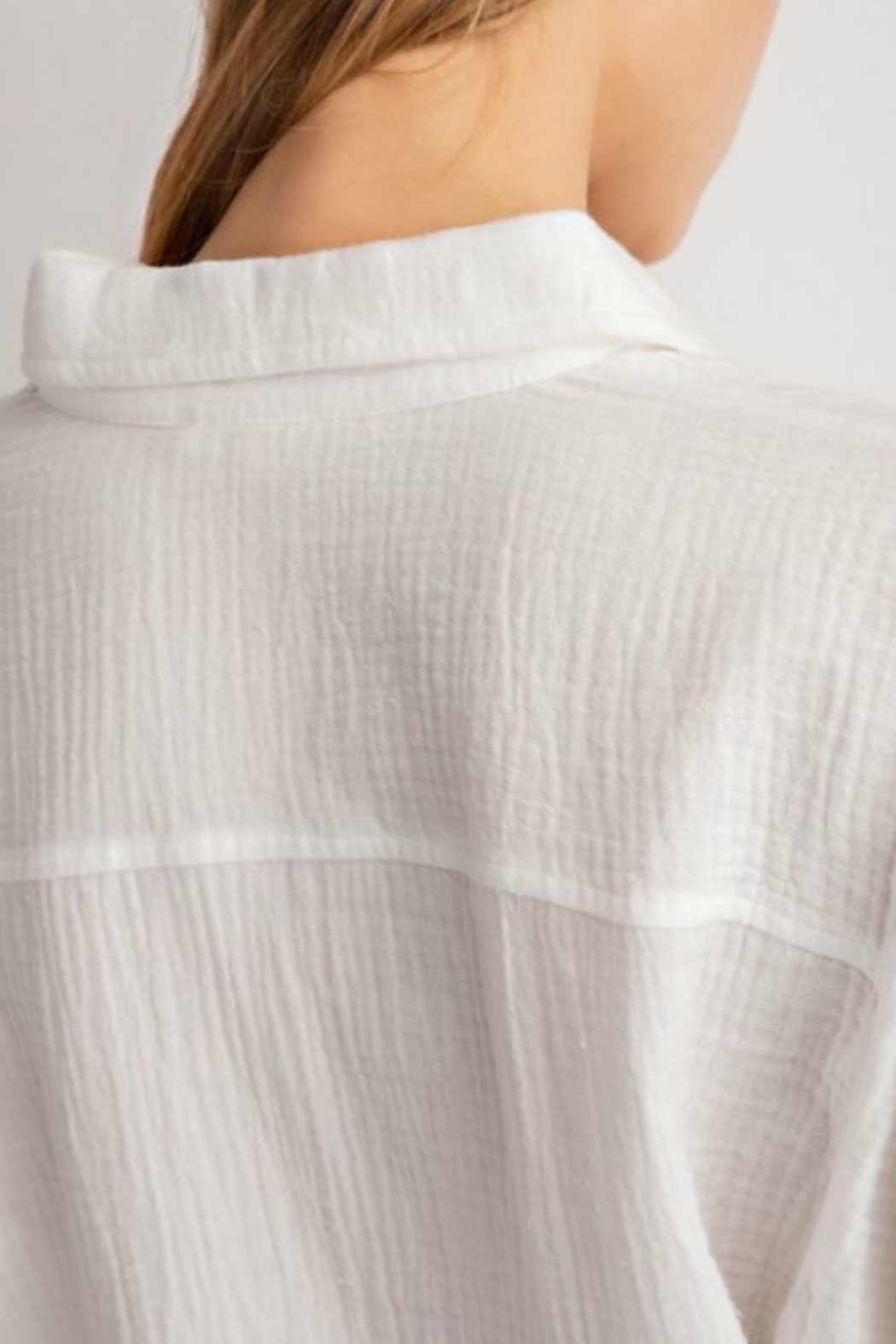 lelis Casual long sleeve top with front tie detail - Side Cropped Image