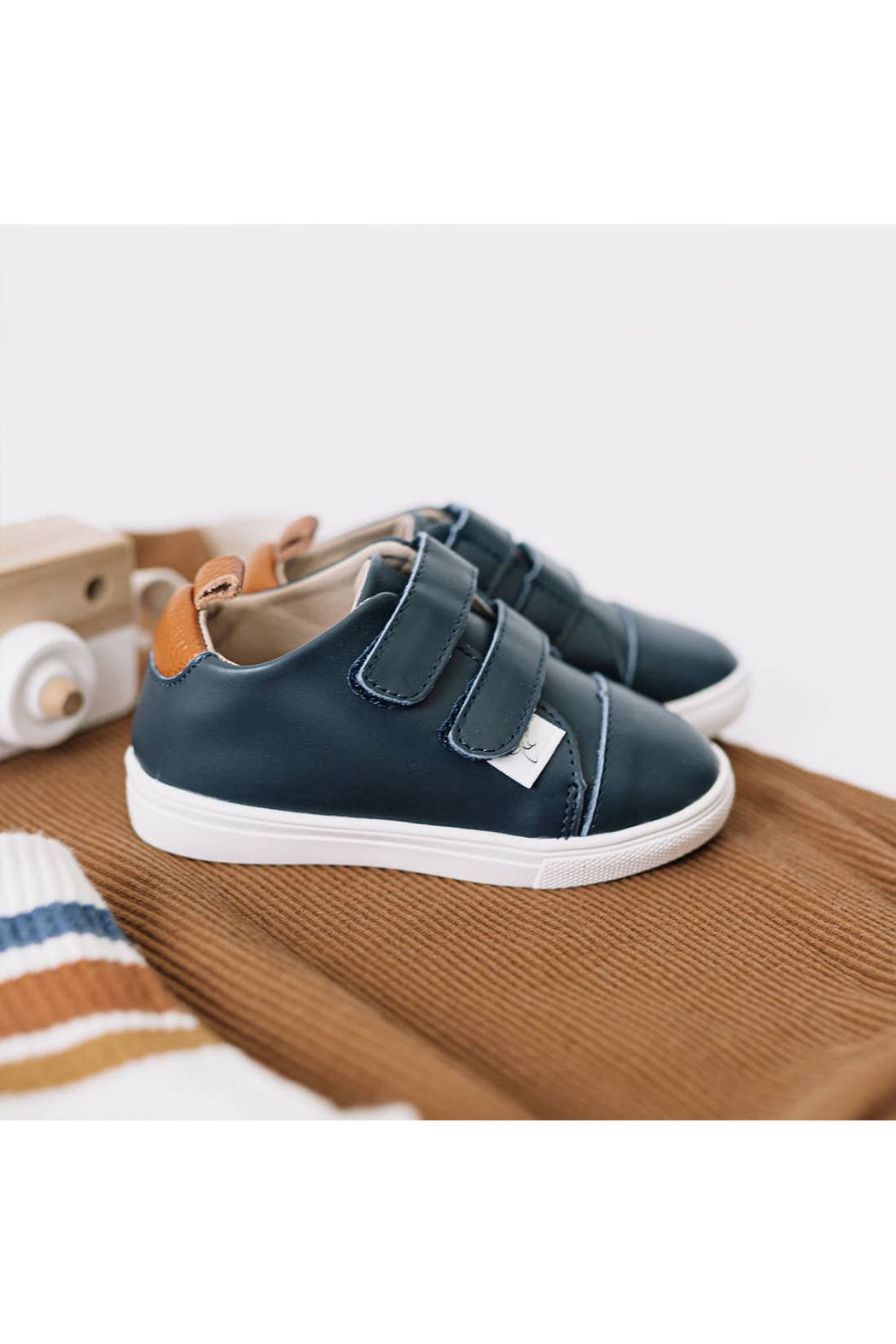 Little Love Bug Company Casual Navy Low Top Moccasin - Main Image