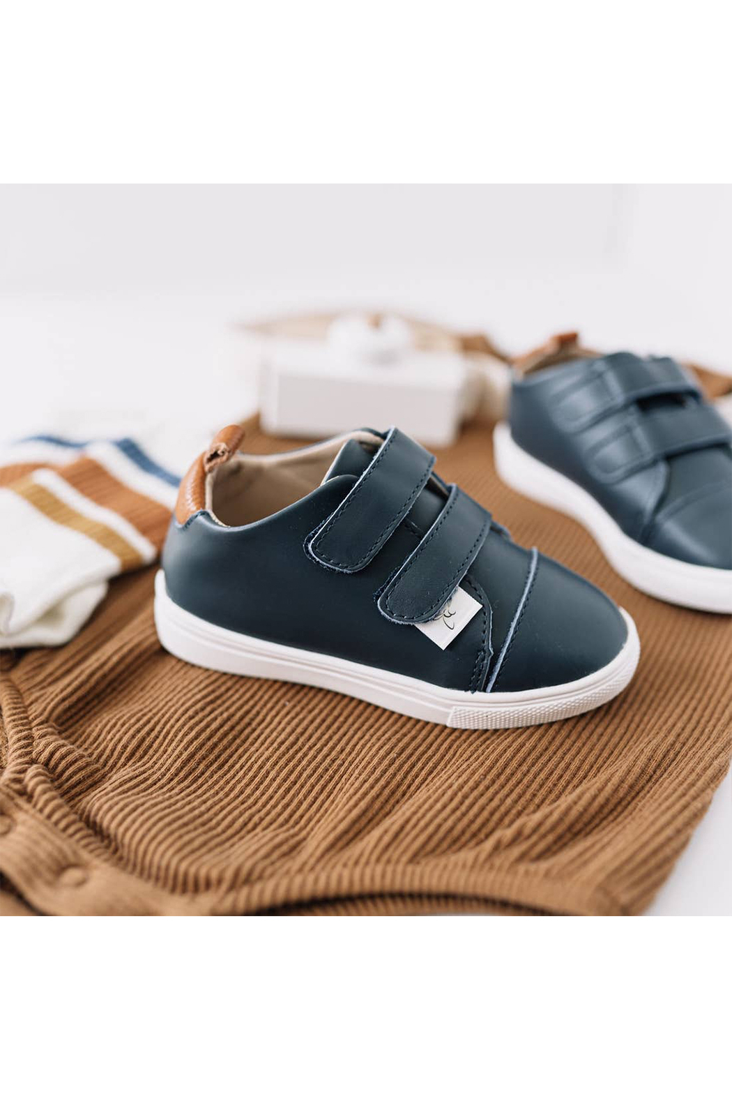 Little Love Bug Company Casual Navy Low Top Moccasin - Side Cropped Image