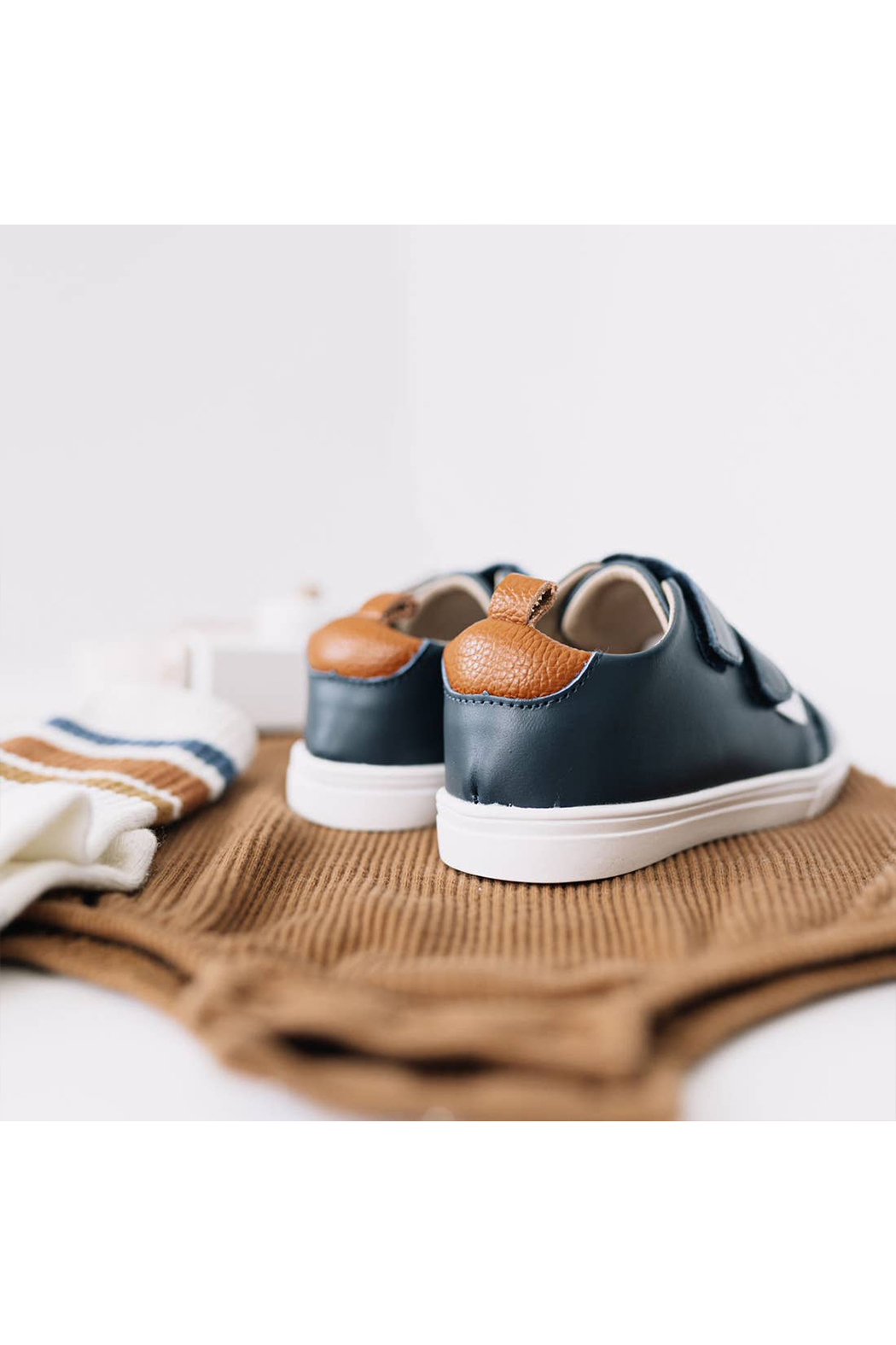 Little Love Bug Company Casual Navy Low Top Moccasin - Front Full Image