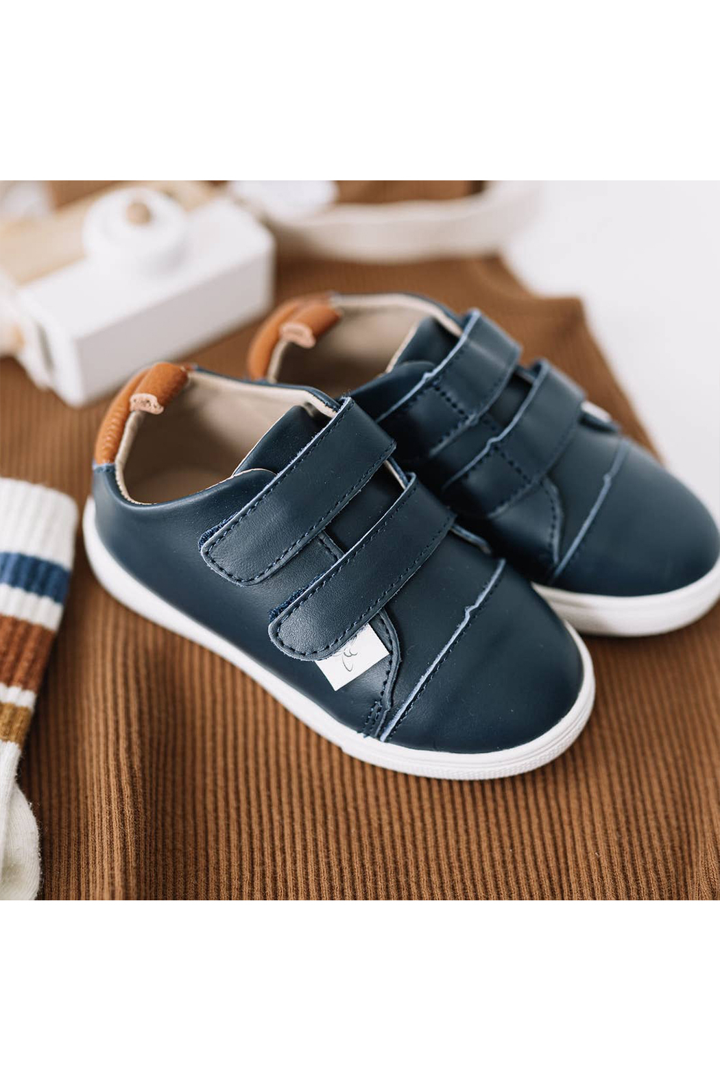 Little Love Bug Company Casual Navy Low Top Moccasin - Back Cropped Image