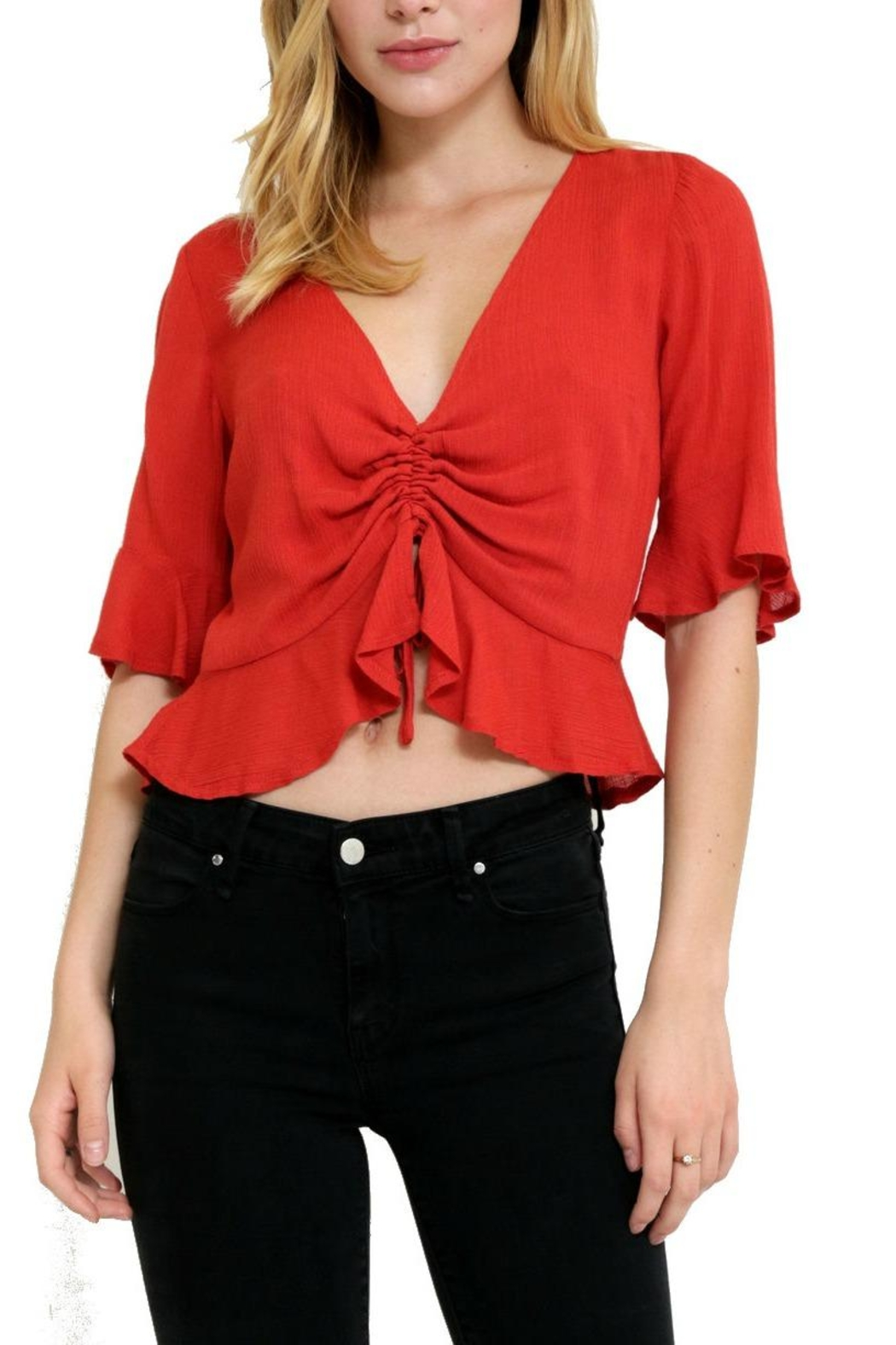 in the Beginning Casual Short Top - Front Cropped Image