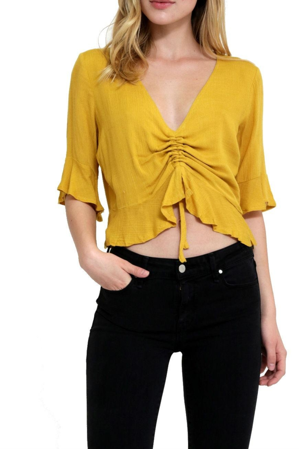 in the Beginning Casual Short Top - Front Full Image