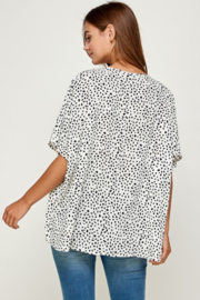 Summer 10 Casual V-Neck Dot Tunic Top - Front full body