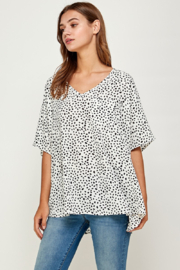 Summer 10 Casual V-Neck Dot Tunic Top - Front cropped