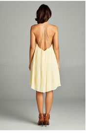 A Peach Casual Yellow Sundress - Front full body