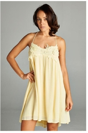 A Peach Casual Yellow Sundress - Front cropped