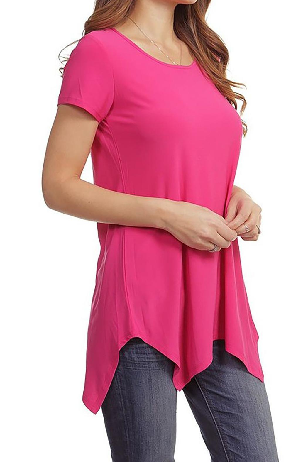 Casual Land Sharkbite Tunic Top - Front Full Image