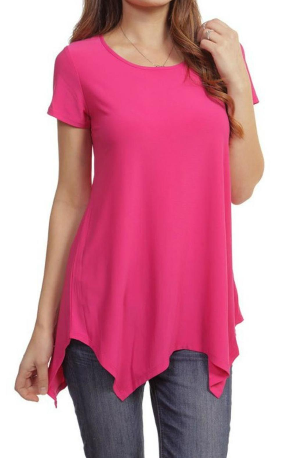 Casual Land Sharkbite Tunic Top - Front Cropped Image