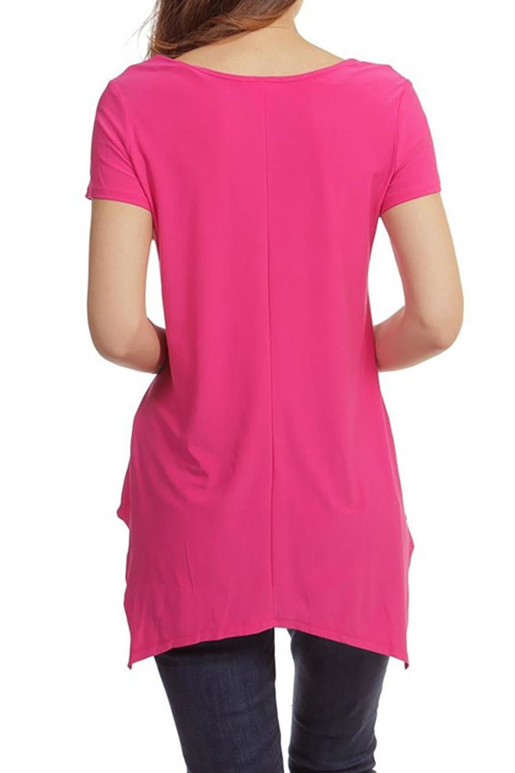 Casual Land Sharkbite Tunic Top - Side Cropped Image