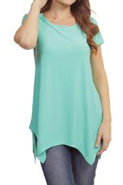 Casual Land Sharkbite Tunic Top - Front cropped
