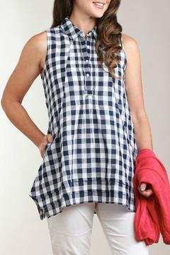 casual studio Check Cotton Tunic Top - Alternate List Image