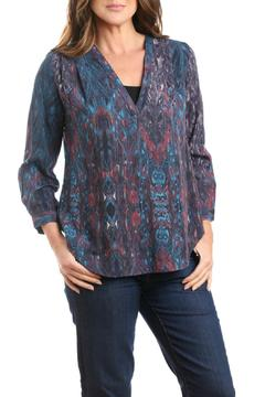 casual studio Colorful Teal Blouse - Alternate List Image