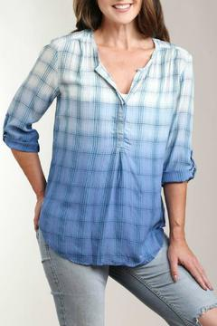casual studio Dip Dye Plaid Blouse - Alternate List Image