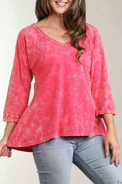 Shoptiques Product: Bright Pink Flared Top
