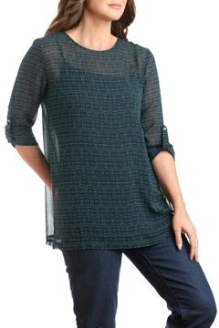 casual studio Teal Chiffon Blouse - Alternate List Image