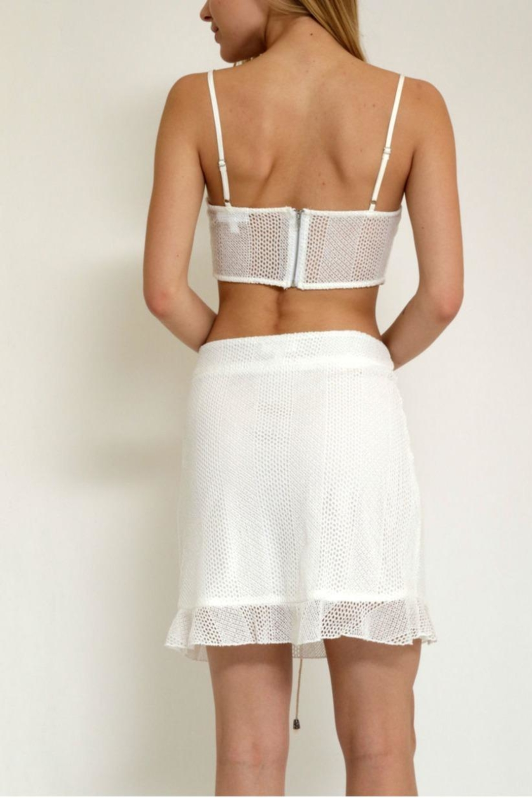 in the Beginning Casualmesh  Set,top&Skirt - Front Full Image