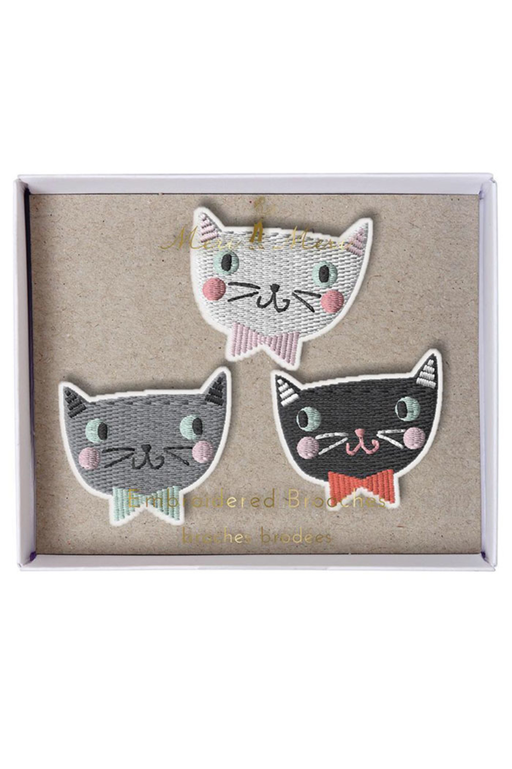 Meri Meri Cat Brooches - Front Cropped Image
