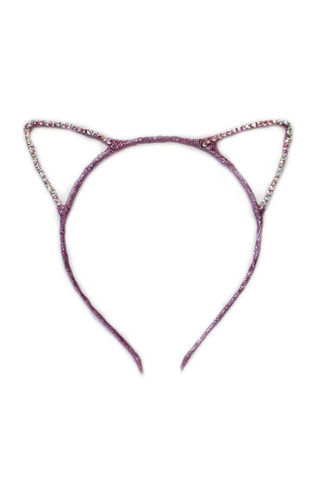 Bari Lynn Cat Ear Headband Scattered Crystal - Front Cropped Image