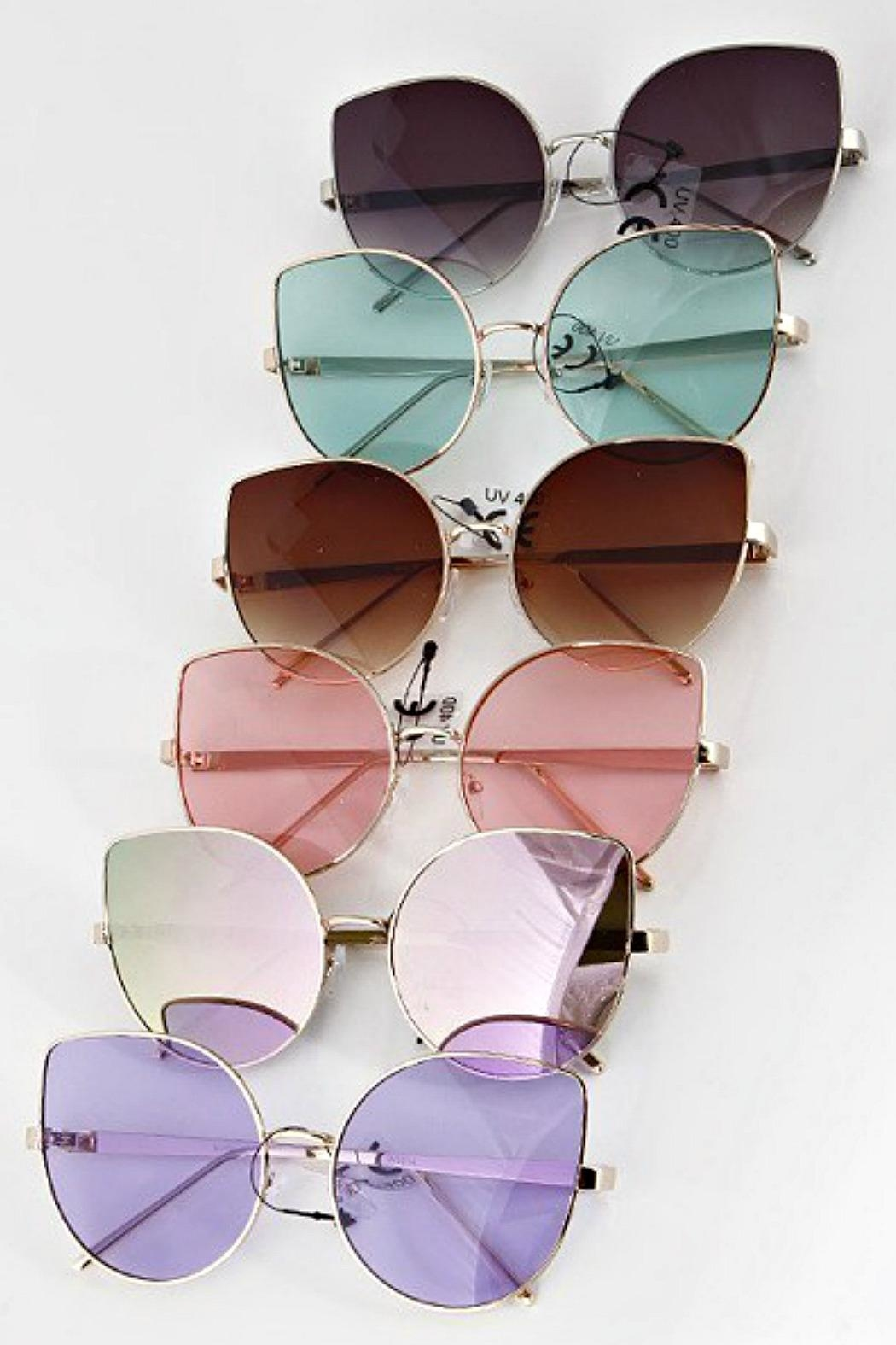 H & D Cat Eye Sunglasses - Front Cropped Image