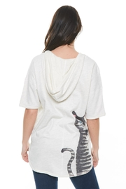 Inoah Cat Hoodie Top - Front cropped