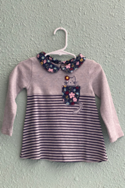 MudPie Cat in Pocket Tunic - Front cropped