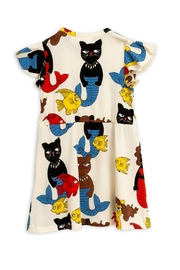 Mini Rodini Cat Mermaid Dress - Front full body
